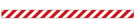 Caution stripe R&W decal image