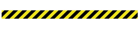 Caution stripe Y&B decal image