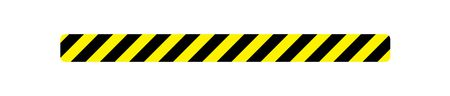 Caution stripe magnetic image 3x36