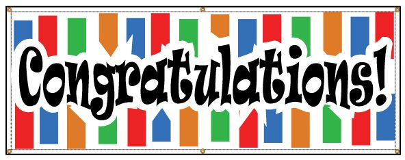 buy our congratulations banner from signs world wide