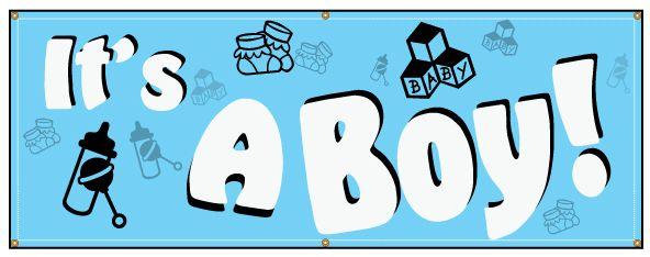It/'s A Boy Banner