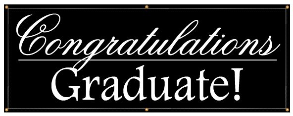 buy our congratulations graduate banner from signs world wide